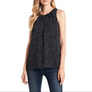 Two by Vince Camuto Polka dot sleeveless blouse
